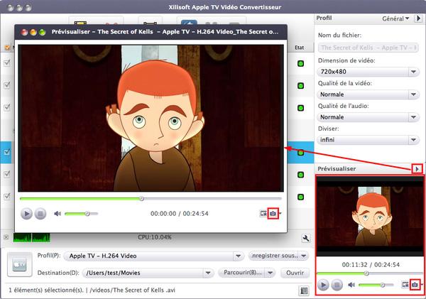 Xilisoft Apple TV Vidéo Convertisseur pour Mac