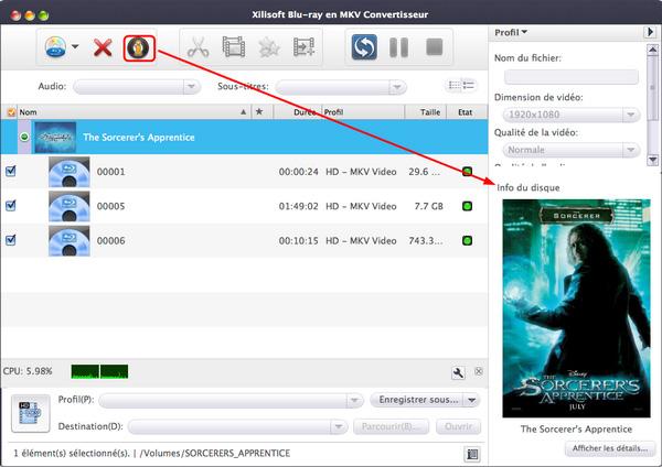 Xilisoft Blu-ray en MKV Convertisseur pour Mac
