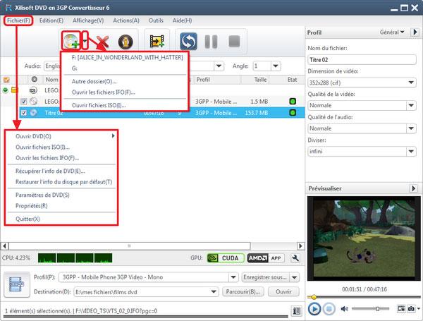 Xilisoft DVD en 3GP Convertisseur